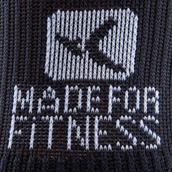 Hoge fitnesssokken zwart 500 - 766708
