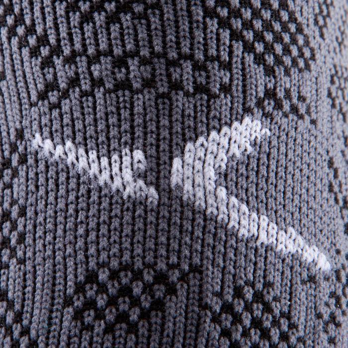 Hoge fitnesssokken zwart/grijs