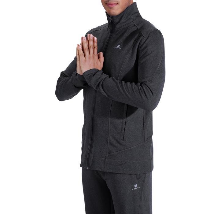 Veste YOGA dynamique homme gris chiné foncé