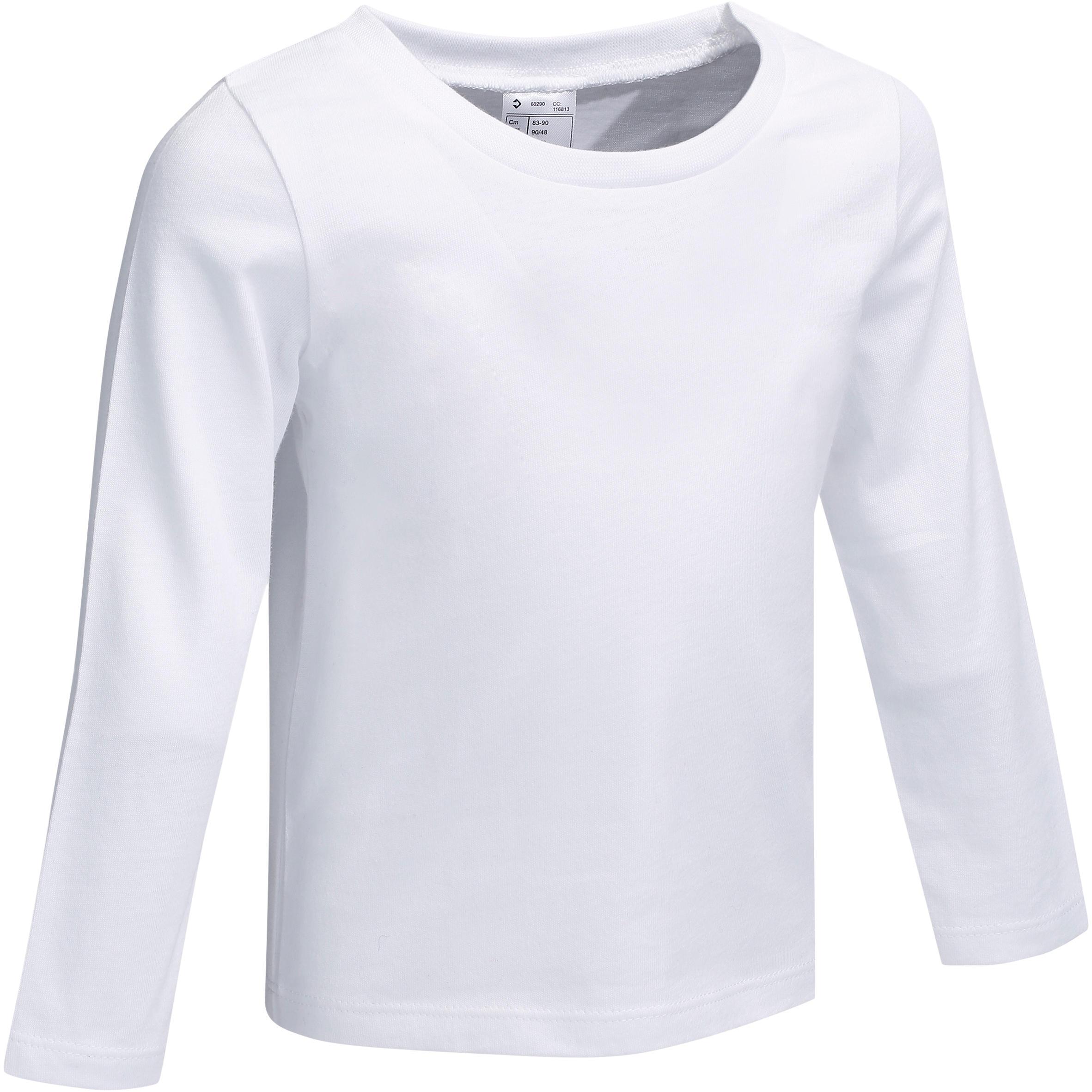 Baby T-shirt met lange mouwen wit