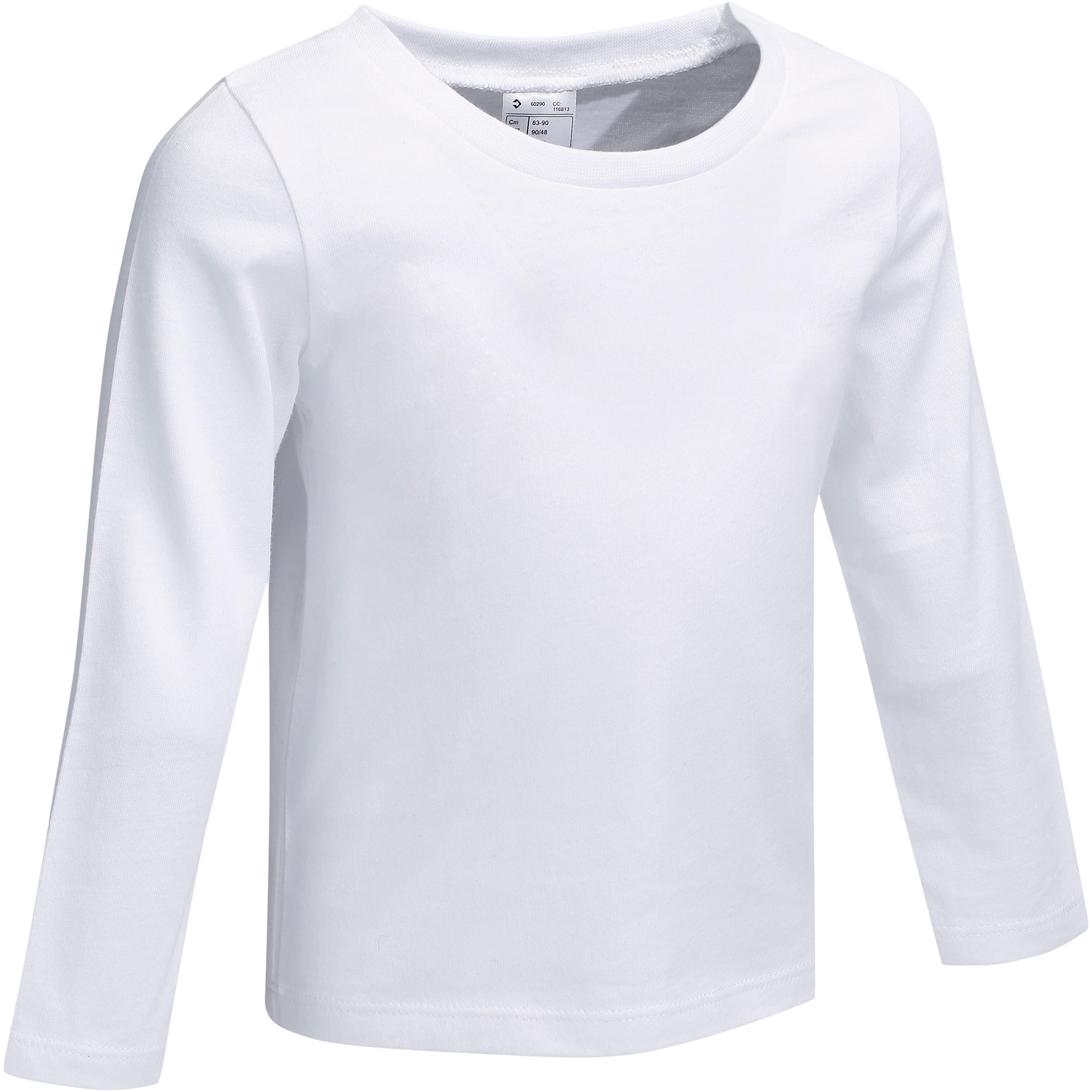Playera de manga larga Bebé blanco