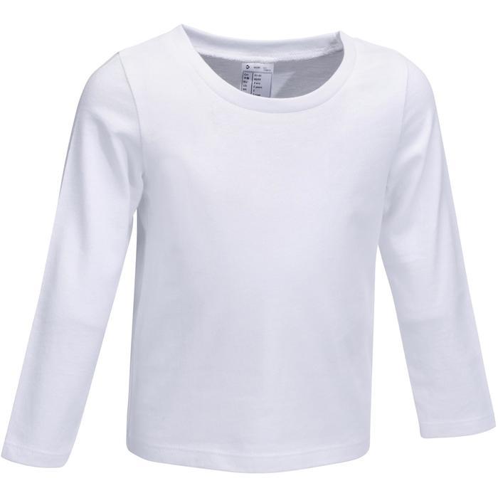 T-Shirt manches longues Gym baby blanc