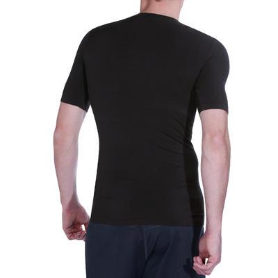 T-shirt compression fitness MUSCLE homme noir