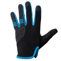 Handschuhe lang Kinder schw/bl