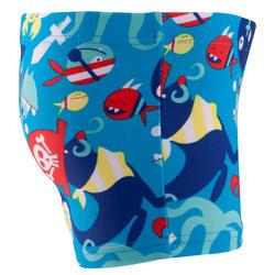 Zwemboxer Titou voor jongens zebro - 768835