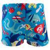 Zwemboxer Titou voor jongens zebro - 768837