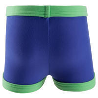 """Baby boy """"super soft"""" boxer style swim shorts - blue and green"""