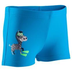 Bañador de natación bebé niño boxer titou zebro azul