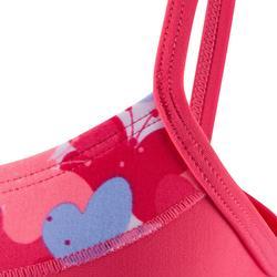 Pink baby girl's printed swimsuit skirt