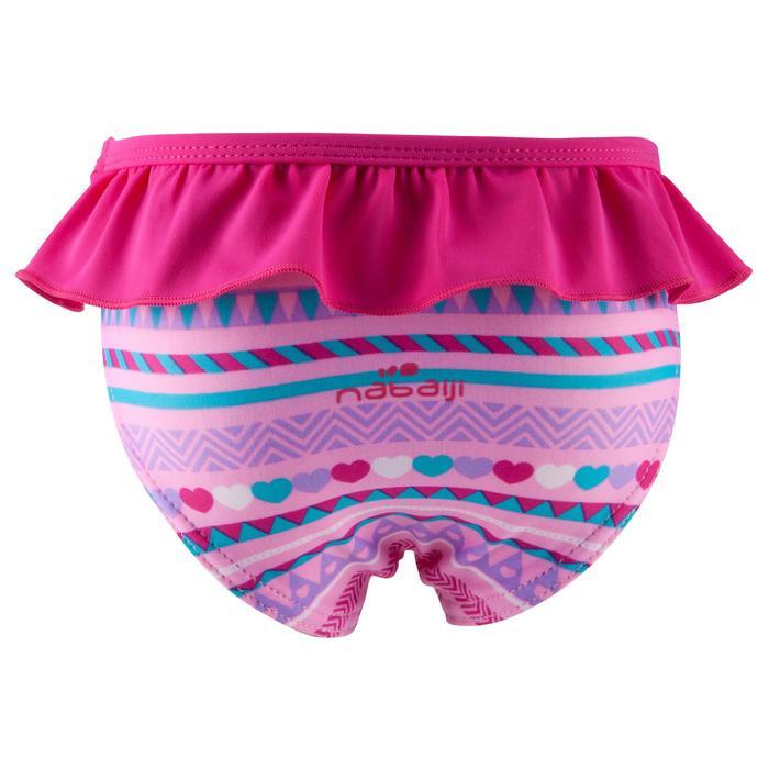 """Maillot de bain une pièce culotte bébé fille rose imprimé """"papillons"""" - 768924"""