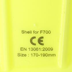 Scheenbeschermers F700 volwassenen, voetbal, zwart/geel - 769967