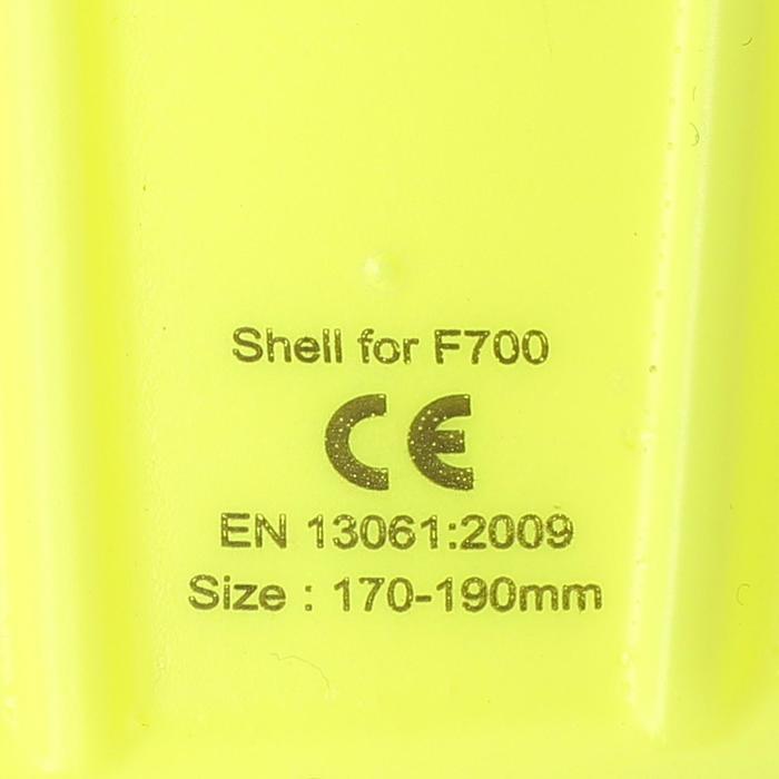 Protège-tibias de football adulte F700 noir jaune - 769967