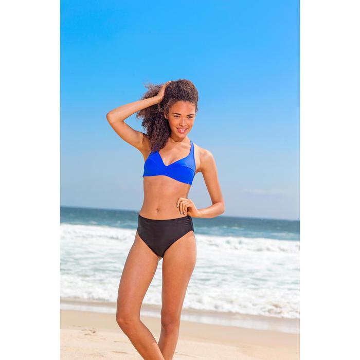 Bas de maillot de bain de surf femme taille haute ROMI NOIRE - 7787
