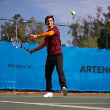 Tennisschuhe TS100 Multicourt Klettverschluss Herren weiß