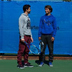 Sweater Soft heren lichtgrijs badminton/tennis/tafeltennis/padel/squash - 78052