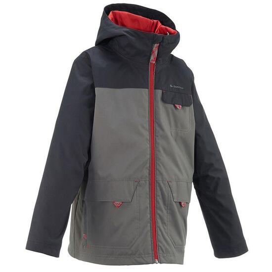 Warme en waterdichte 3-in-1 jongensjas voor trekking Hike 500 - 783287
