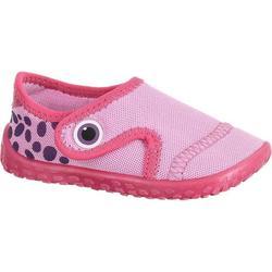 Zapatillas acuáticas Aquashoes 100 bebé rosa
