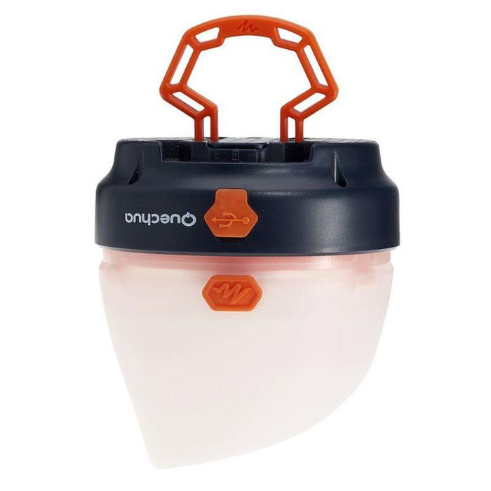 BL 50 LUMENS 可充電式發電機露營/健行運動燈具 - 藍色