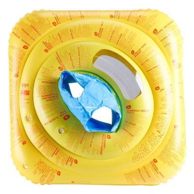 Надувне круг-крісло для немовлят, з «вікном» і ручками - Жовте