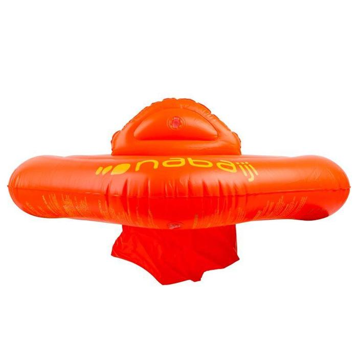 Bouée piscine gonflable orange avec siège pour bébés de 11-15 kg