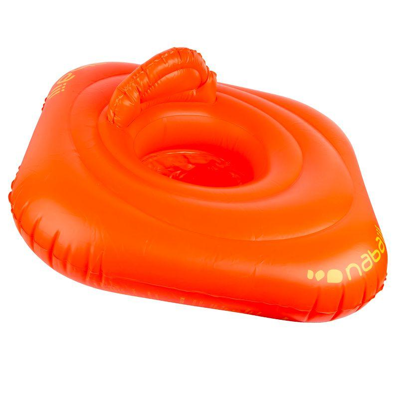 Inflatable Ring Float with Seat - Orange