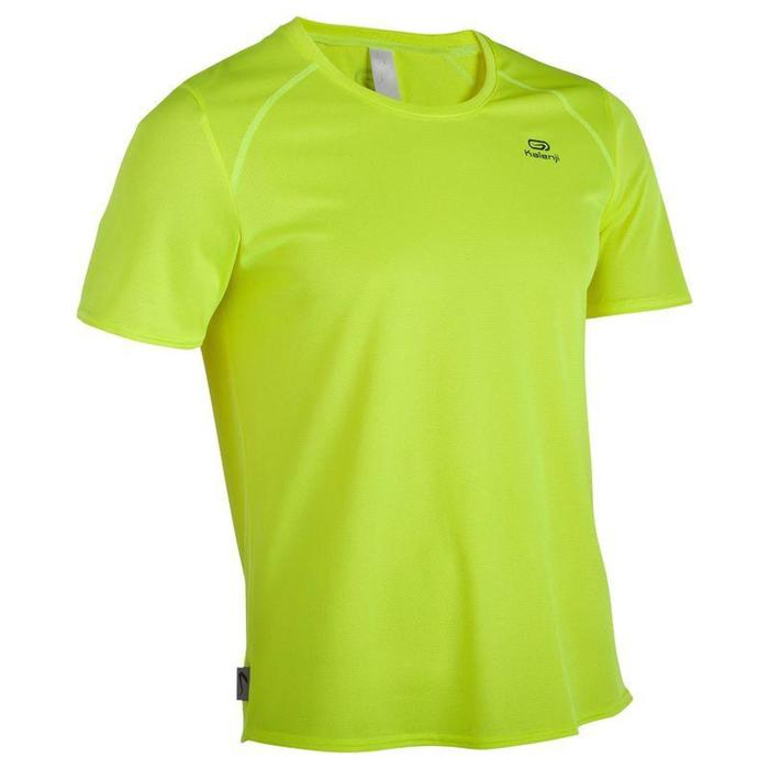 T-shirt voor hardlopen heren Run Dry geel