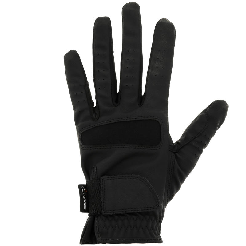 Grippy Adult and Children Horse Riding Gloves - Black