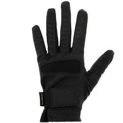 女用防滑馬術手套-黑色