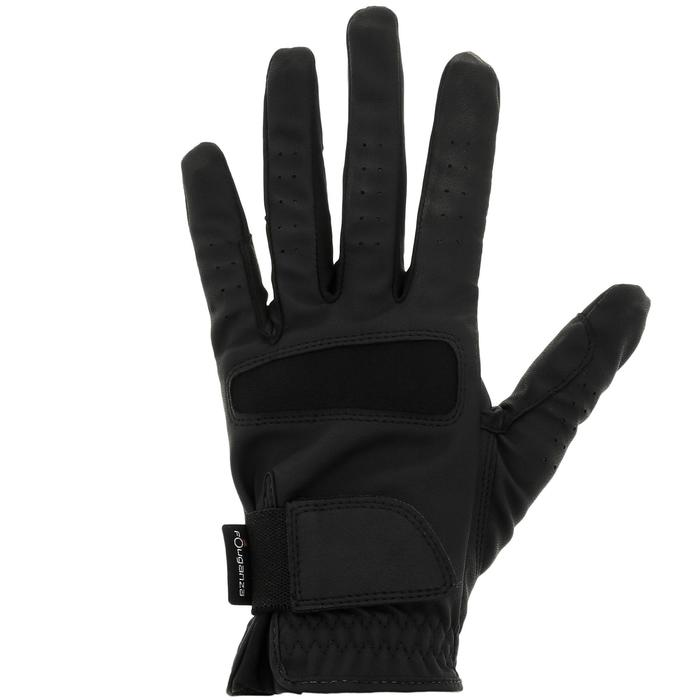 Grippy Adult and Children's Horse Riding Gloves - Black