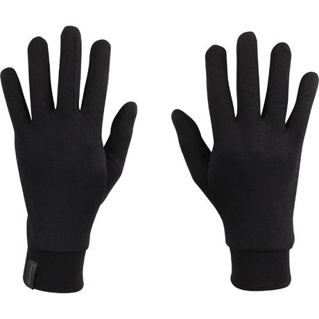 Black silk trek 500 mountain trekking liner gloves quechua - Gants chauffants decathlon ...