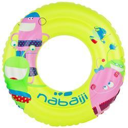 Kids' Inflatable Swim Ring 6-9 Years 65 cm - Yellow