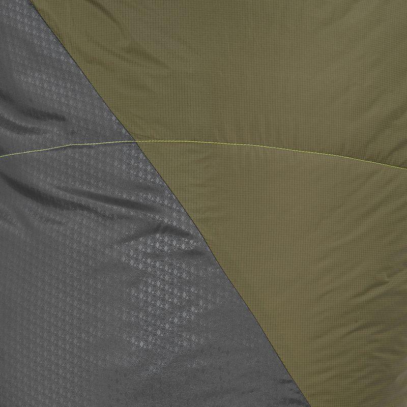 FORCLAZ 0° LIGHT Hiking sleeping bag khaki right zip