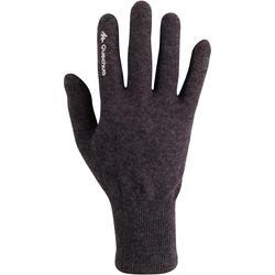 Onderhandschoenen voor trekking Forclaz 50 volwassenen zijde touch - 78508