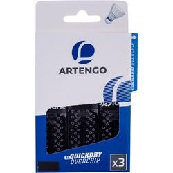 Quick Dry Badminton Overgrip Tri-Pack - Black