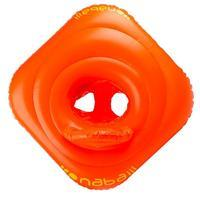 Baby's orange inflatable swim ring with seat for infants weighing  11- 15 kg
