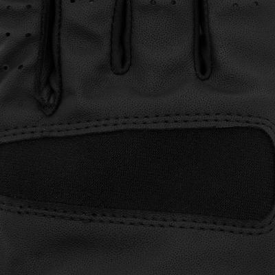 قفازات ذات سطح بارز لركوب الخيل للكبار- أسود