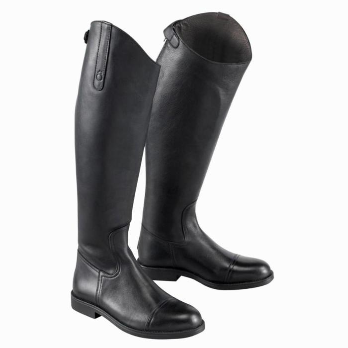 Bottes en cuir équitation adulte RIDING noir