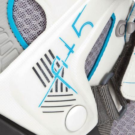 Roller fitness femme FIT 5 gris bleu