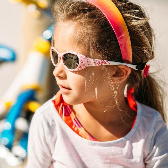 Lunettes de soleil randonnée enfant 2-4 ans KID 300 W fleurs roses catégorie 4 - 786597