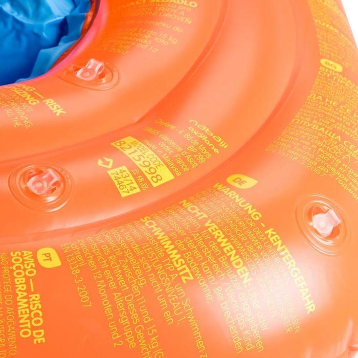 Baby's inflatable swim ring with seat for infants weighing 11-15 kg