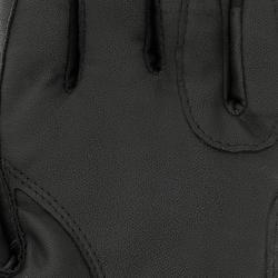 Paardrijhandschoenen Grippy dames zwart