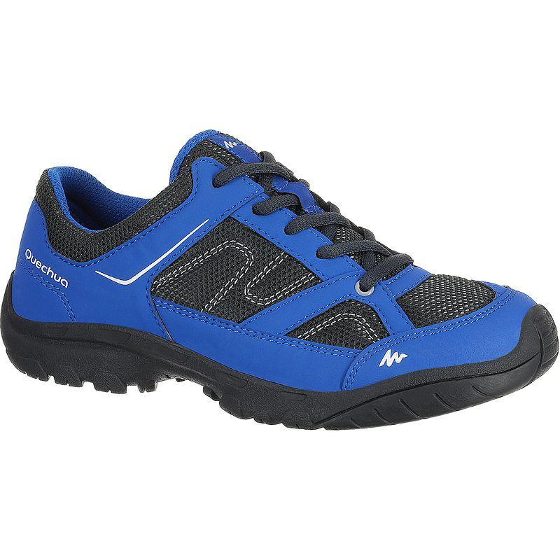 Arpenaz 50 Children's Hiking Shoes blue laces