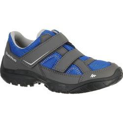 Arpenaz 50 兒童魔鬼黏健行運動鞋 藍色