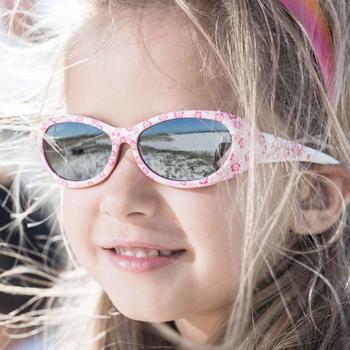 Lunettes de soleil randonnée enfant 2-4 ans KID 300 W fleurs roses catégorie 4 - 789466