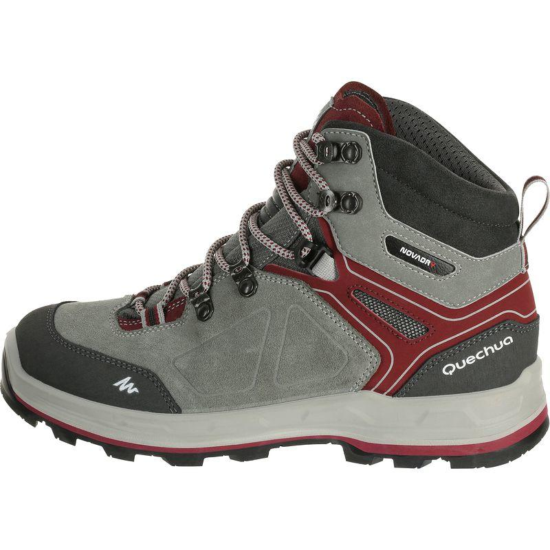 Trekking 100 Waterproof Woman's Shoe - Grey