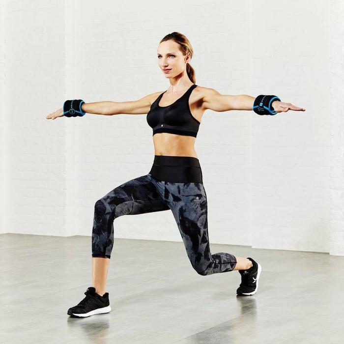Brassière fitness cardio femme gris chiné Shape - 790153
