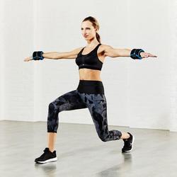 Hanteln verstellbar Hand- und Fußgelenke Pilates Toning 1kg 2 Stück