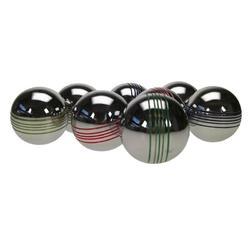 Set van 8 petanqueballen in kleur voor recreatief gebruik