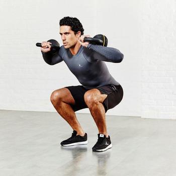 Kettlebell Cross Training Musculación Domyos 12 Kg Negro/Amarillo