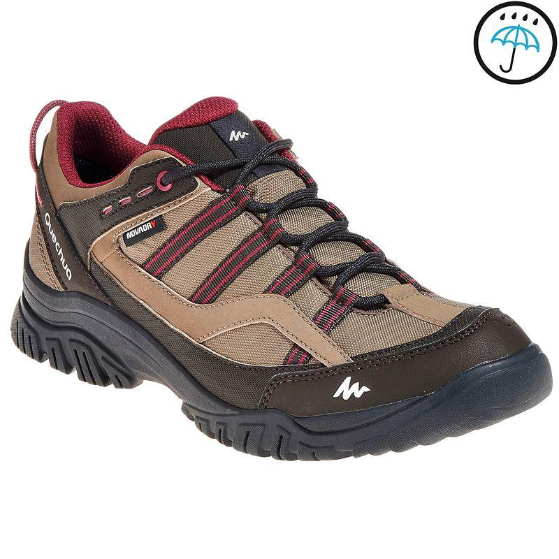 Arpenaz 100 women's waterproof walking boots - brown